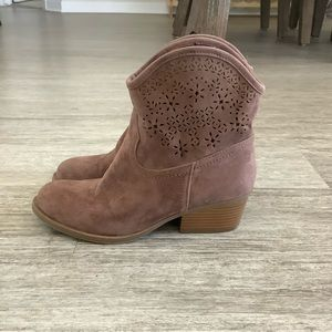 Express Brown Cowgirl Booties
